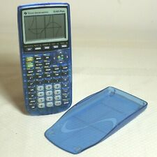 Texas instruments TI-83 Plus Graphing Calculator Transparent Blue w/ Cover Works