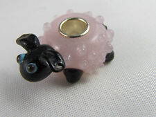MURANO 3D SINGLE STERL SILVER PL CORE ANIMAL BEAD FOR EURO STYLE CHARM BRACELET