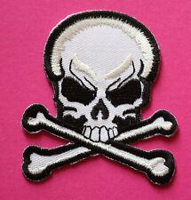 Totenkopf Aufnäher / patch skull Punk biker Rockabilly Punkrock Aufbügler Metal