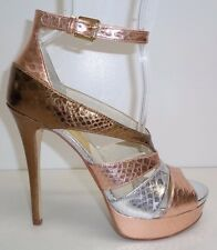 Michael Kors Size 8.5 M LEIGHTON ANKLE STRAP Rose Gold Sandals New Womens Shoes