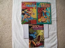 Lot of 3 Spicy Tales 1989-90 vintage pulp reprints MINT Condition