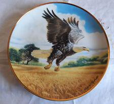 "Amber Waves Of Grain, Bald Eagle, Franklin Mint 8"" Plate"