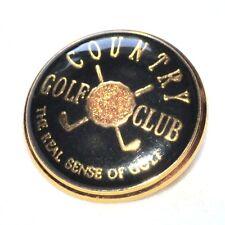 Bouton vintage en métal doré Country Golf Club 20mm button