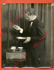"""Old framed Glossy Photo of Magician performing - from Robert J Heiney (""""Trebor"""")"""