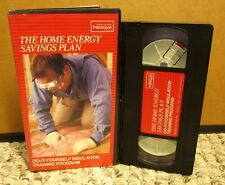 DO-IT-YOURSELF INSULATION training program VHS home repair DIY energy savings