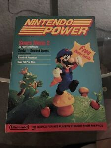 Nintendo Power Magazine Issue 1 PREMIERE ISSUE 1988 POSTER & Map Player Poll