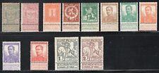 Belgium 1894-1912, 12 Stamps With Tabs Mint CV$58