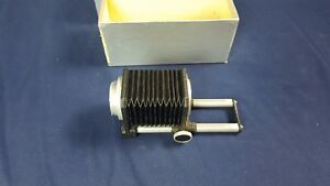 Vintage Novoflex Bellows Focusing Unit 10.5cm Original Box Germany VG