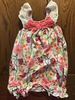 Matilda Jane Catch Of The Day Romper EUC Happy and Free Girls Size 6-12 Months