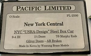 """Pacific Limited, New York Central, PL-2500, NYC """"USRA-Design"""" Steel Box Car"""