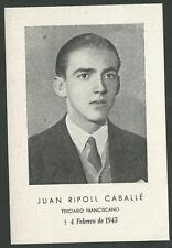Estampa antigua de Juan Ripoll Caballe andachtsbild santino holy card santini