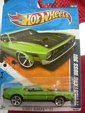 Hot Wheels '71 Mustang Boss 351 Street Beasts Green