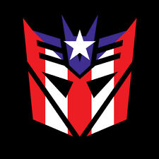 PUERTO RICO CAR DECAL STICKER  DECEPTICON TRANSFORMER with  FLAG #269
