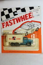 1970's Playart Fast Wheels, Ford Sea Land Delivery Truck,  New on Card