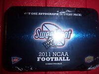 Guaranteed Auto 2011 Upper Deck Sweet Spot Hobby Tin Pack ? Cam Julio Jones Watt