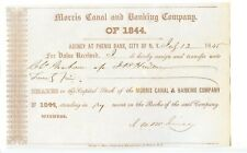 1845  New York.   Morris Canal and Banking Co. Stock.