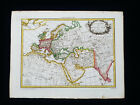 1810 LAPIE:  Ancient WORLD MAP, ASIA, EUROPE, ARABIA, MIDDLE EAST, INDIA