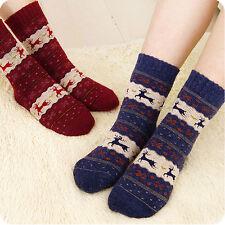 Damen Schnee flocke Wollsocken Socken Schafwollsocken Kuschelsocken Neu