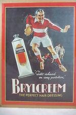 "Retro Blechschild ""Brylcreem"" Friseur Creme Bistro Diner Bar Pub 40x30 cm Neu"