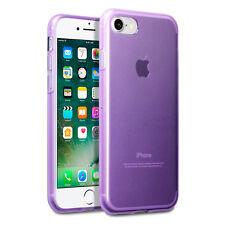 iPhone 8 Case Impact Proof Flexi Duragel Micro Bumper &  Screen Protector Purple