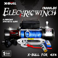X-BULL 12V 13000LBS Electric Winch Towing Truck Synthetic Rope Off Road 12000LBS