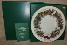 Lenox China Colonial Wreath Christmas Plate 1992 North Carolina Twelth Colony