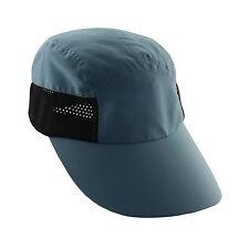 Womens Flap Cap-STOP CANCER! BIG Detachable Shield! Neck Face Summer Hat-Blue