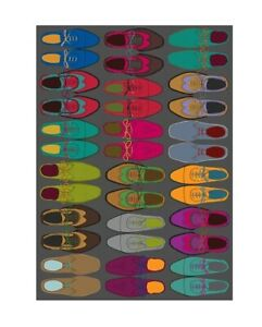 The Art File Sheet of Arty Designer Colourful Shoes Gift Wrap Wrapping Paper