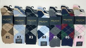 GOLD TOE Men's 3 pack Carlyle Argyle Crew Socks, 10-13, Multi-color, $19.50 each