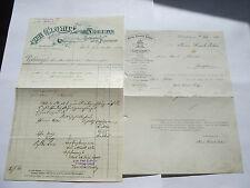 1914  RECHNUNGEN von BUCHDRUCKEREI, Württemberg &1909 BESCHEINIGUNG, Ludwigsburg