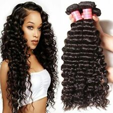 1PC 10'' 100G Brazilian Deep Curly Wave 100% Human Virgin Hair Extensions Wefts