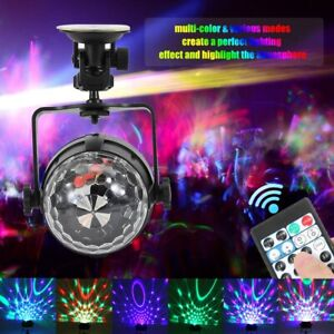 4W RGB Rotating LED Light Ball Projector  DJ Party Club Stage Show Lighting New