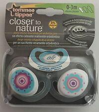 2-Pack Tommee Tippee CTN C-Air 0-3m Chupetes-Flores Diseño Para Niñas