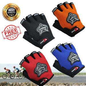 Children Bike Half Finger Gloves Breathable Anti-slip For Sports Riding Mittens