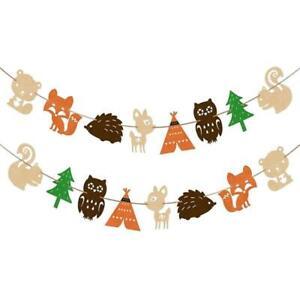 Scandinavian Nordic Forest Animal Felt Banner Bunting Decoration