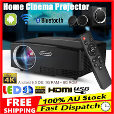 4K HD LED Projector Media Home Outdoor Cinema HDMI USB 1080P VGA USB HDMI