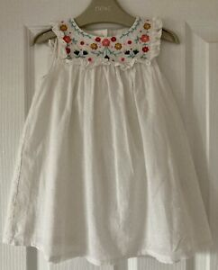 BABY BODEN 12-18 Months Baby Girl White Embroidered Sun Dress