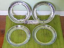 """NOS 57 58 59 Plymouth KROMWEEL Hubcap Beauty TRIM RINGS 14"""" Set of 4 Wheel Discs"""