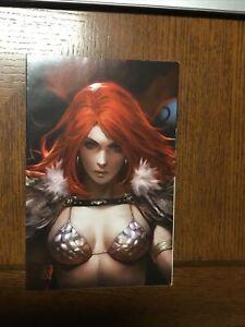 Red Sonja Age of Chaos #1 NM+ Derrick Chew 1:11 Sneak Peek Virgin Variant Cover
