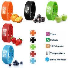 Digital Pedometer Walking Step Distance Calorie Counter Run Fitness Wrist Watch