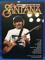 SANTANA Best Wide Edition Band Score Sheet Music Japan Book