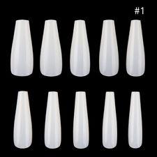 600pcs Natural White Clear False French Full Acrylic for UV Gel Nail Art DIY