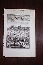 ✒ 1683 MANESSON MALLET vue de CONSTANTINOPLE Istanbul TURQUIE