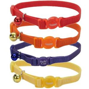 Cat Collar Breakaway Adjustable Snag-Proof Nylon Collar w/ bell Safe Cat®
