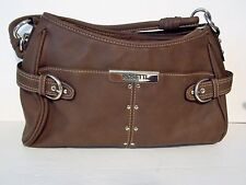 Rosetti Brown Faux Leather Shoulder Bag