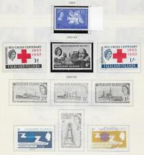 6 Falkland Islands Stamps from Quality Old Antique Album 1963-1965