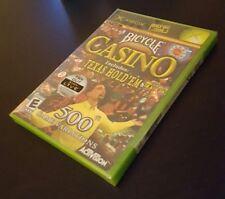 Bicycle Casino (Microsoft Xbox, 2004) original xb Texas Hold Em poker game NEW