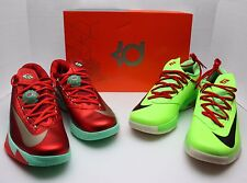 Nike KD VI 6 Christmas & Grinch Size 10.5 -Holiday-Durant-N7-EXT Gum- 599424 601