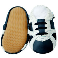 Littleoneshoes(Jinwood) Leather Baby Trainer Navy Rubber Sole Shoes 12-18M