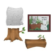 Tree Stump and Log metal dies Cottage Cutz cutting die set CC-232 nature scenery
